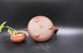 原矿紫砂壶底槽清如意石瓢260cc作者:马广杰(全手)