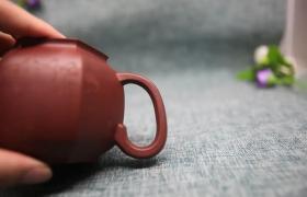 原矿紫砂壶大红袍六方菱花 250cc作者:民间艺人李林奎(半手)
