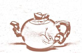 花塑器紫砂壶-寿桃紫砂壶壶型由来