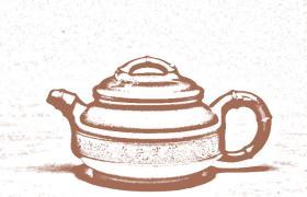 花塑器紫砂壶-双线竹鼓紫砂壶壶型由来