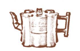 花塑器紫砂壶-五竹紫砂壶壶型由来