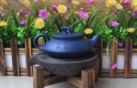 紫砂泥料之天青泥料的紫砂壶