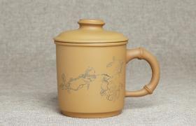 紫砂杯秋韵原矿段泥紫砂杯紫砂杯适合泡什么茶?