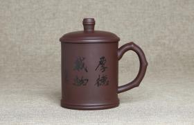紫砂杯厚德载物原矿朱泥紫砂杯紫砂杯适合泡什么茶?