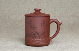 紫砂杯迎春图紫泥紫砂杯紫砂杯适合泡什么茶喝?