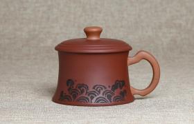 紫砂杯双福如意原矿紫泥紫砂杯紫砂杯适合泡什么茶喝?