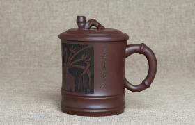紫砂杯幽谷兰花原矿朱泥紫砂杯紫砂杯适合泡什么茶喝?