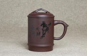 紫砂杯马到成功原矿朱泥紫砂杯紫砂杯适合泡什么茶喝?