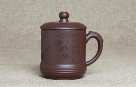 紫砂杯小竹报平安原矿朱泥紫砂杯紫砂杯适合泡什么茶喝?