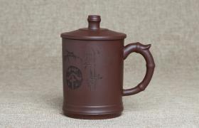 紫砂杯茶字原矿朱泥紫砂杯紫砂杯适合泡什么茶喝?