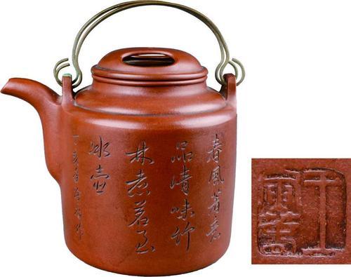牛鼻盖洋桶紫砂壶