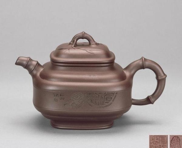 宜兴紫砂壶经典壶型方形的鉴赏